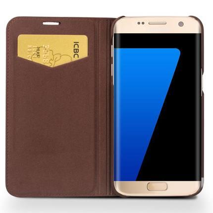 Samsung S7/S7 edge leather protective flip case cover