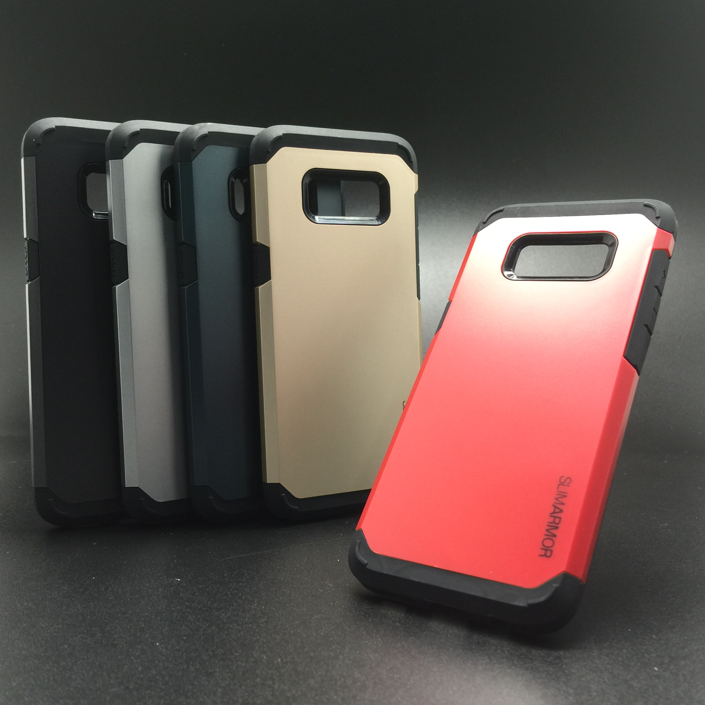 buy popular 95a03 5aa91 SAMSUNG S8 PLUS G955 SLIM ARMOR FULL COVER ANTI DROP SOFT + HARD CASE