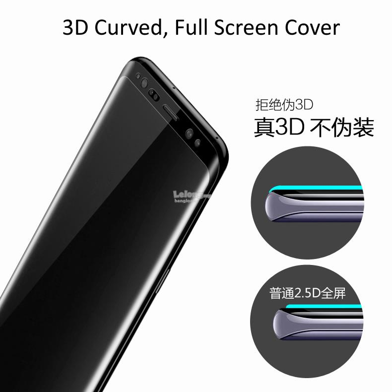 Samsung S8+,Plus, S8 Privacy 3D Curved Tempered Glass Screen Protector