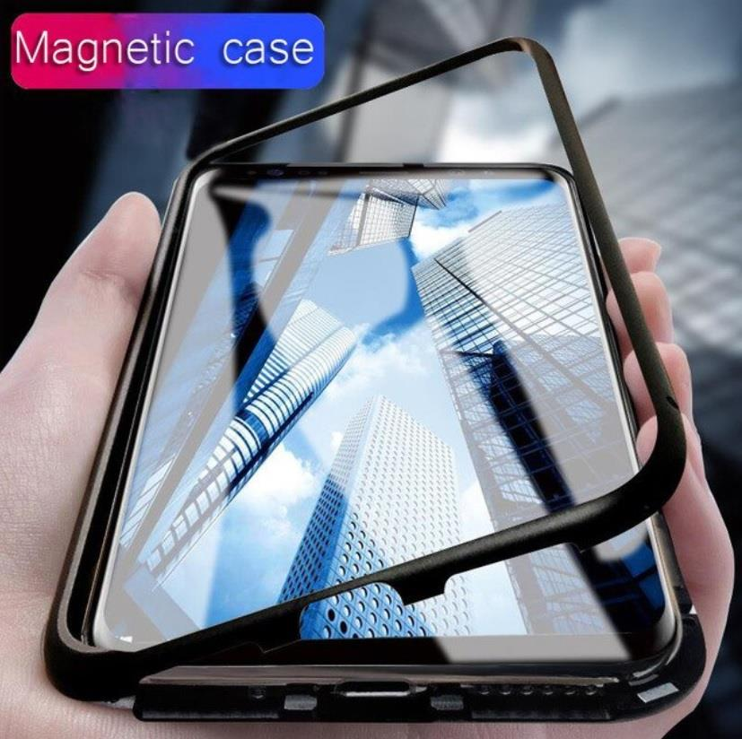 online store 0318d b2596 Samsung S8 S8+ S9 S9+ Plus 360 Magnetic Magnet Absoption Metal Case