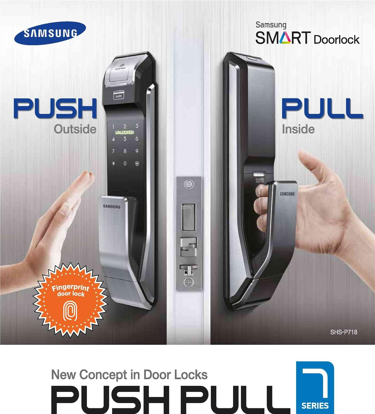 SAMSUNG SHS-P718 PUSHu0026PULL DIGITAL DOOR LOCK  sc 1 st  Lelong.my & SAMSUNG SHS-P718 PUSHu0026PULL DIGITAL D (end 3/16/2018 2:53 PM) pezcame.com