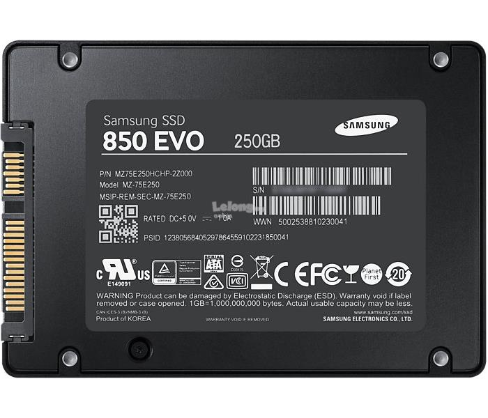 Samsung SSD 850 EVO 500GB 250GB 120GB Solid State Drive Memory Disk