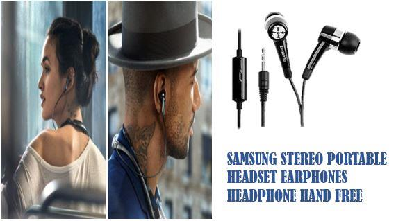 Samsung Stereo Portable Headset Earphones Headphone Hand Free