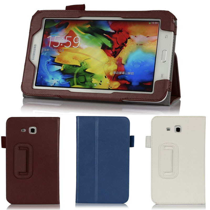 Samsung T113 T110 SM-T111 Tab3 7.0 leather Case Casing Cover