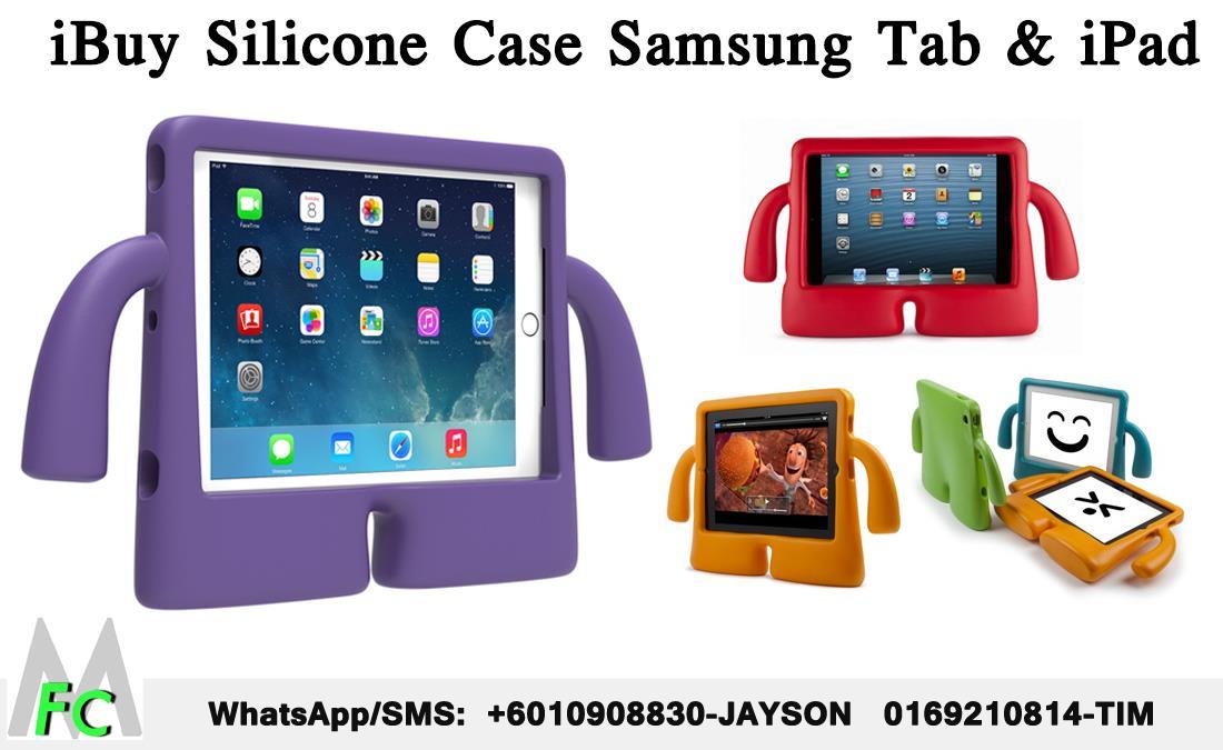 online store ec053 04251 Samsung Tab 2 3v 4 iPad Air 2 Mini 2 3 4 iBuy Silicone Kid Hard Case