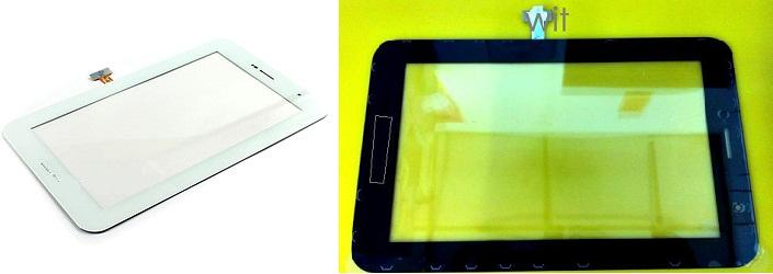 Samsung Tab 7 Plus P6200 P6210 black/white Digitizer Lcd Touch Screen