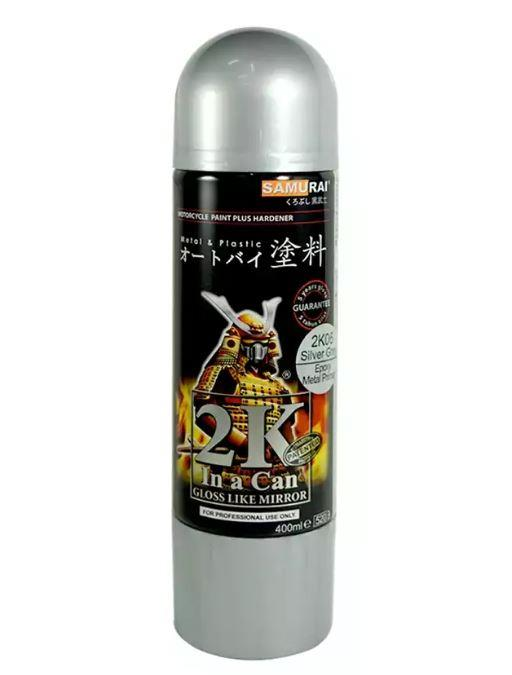 Ordinary Paint And Primer Spray Paint Part - 12: Samurai Aerosol Spray Paint 2K06 Epoxy Metal Primer (Silver Grey)
