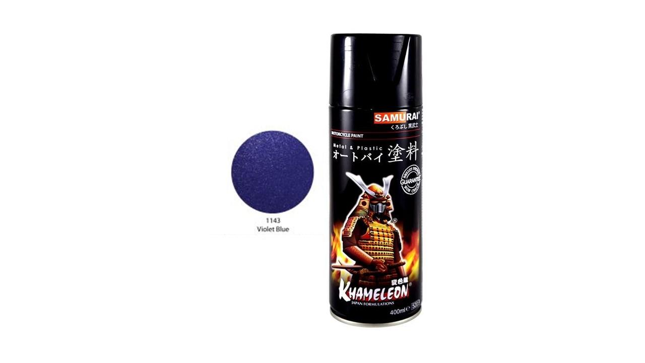Samurai Spray Paint Metallic Colour (Violet Blue)