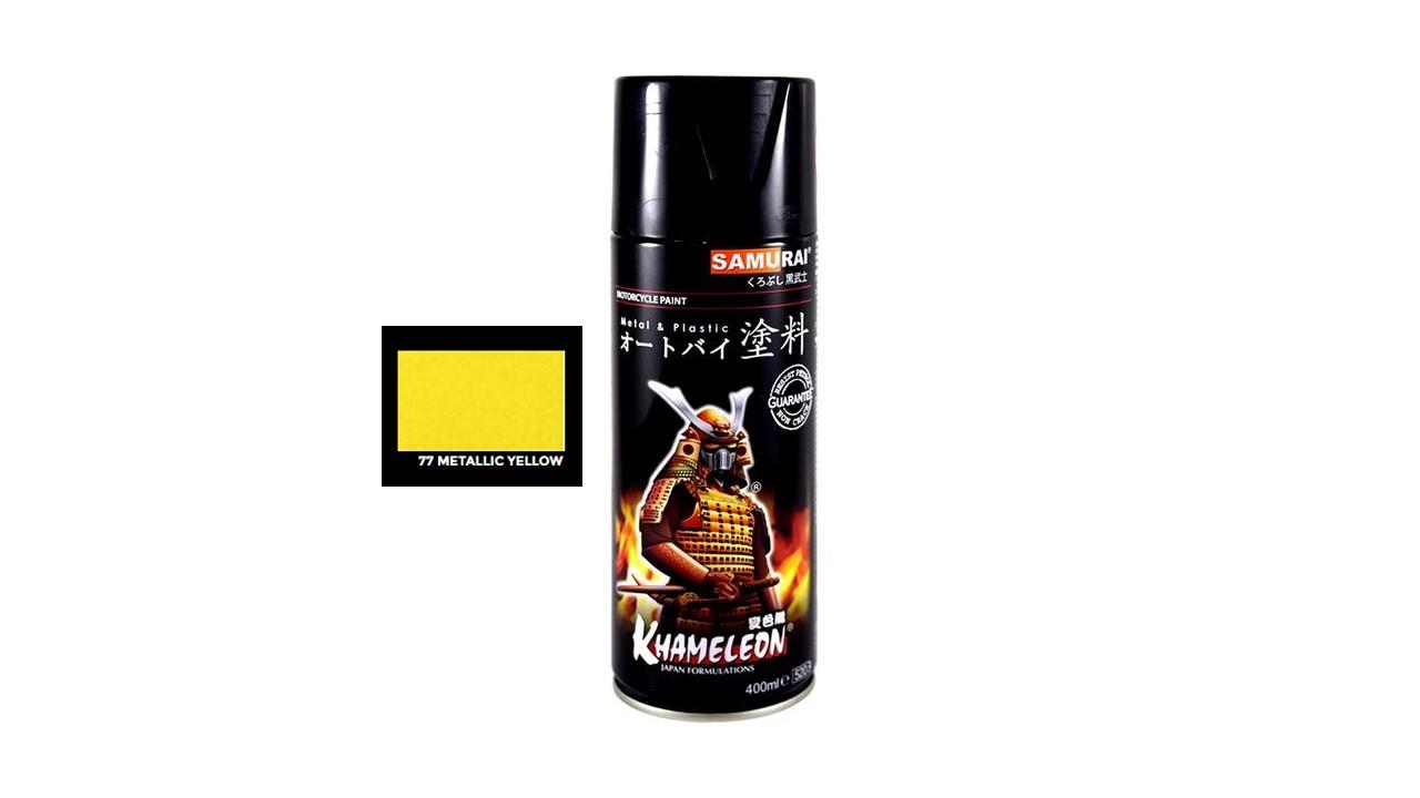 Samurai Spray Paint - Metallic Yellow