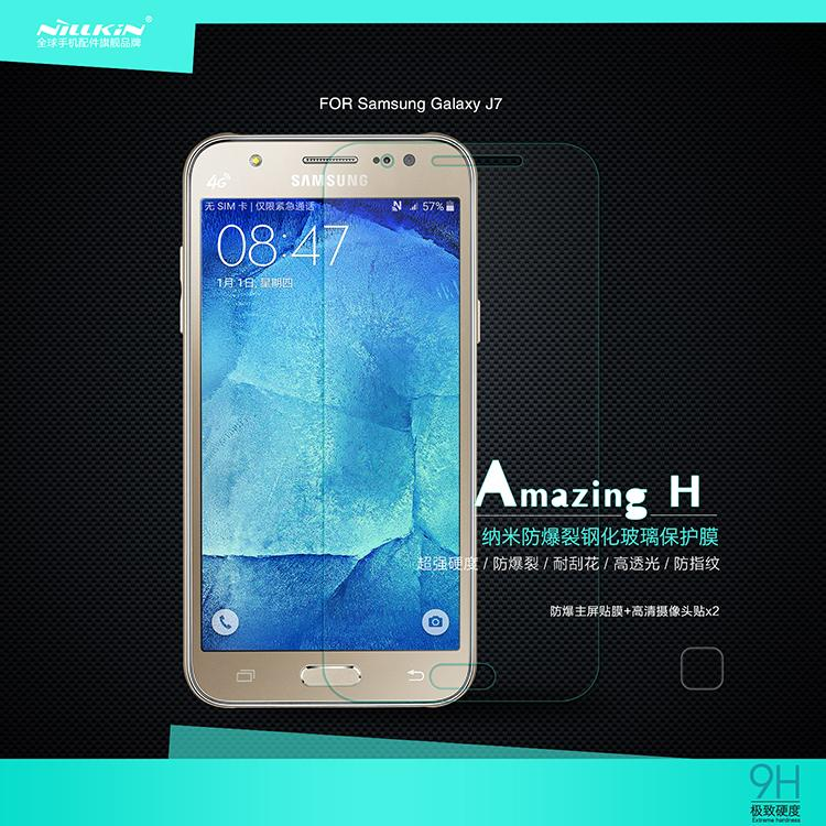 Samusng Galaxy j7 Nillkin Anti Explosion H Tempered Glass