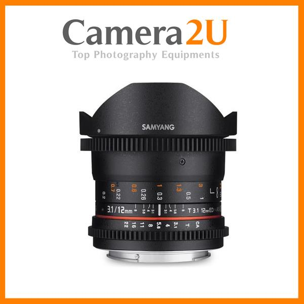 Samyang 12mm T3.1 ED AS NCS Fisheye VDSLR Cine Lens