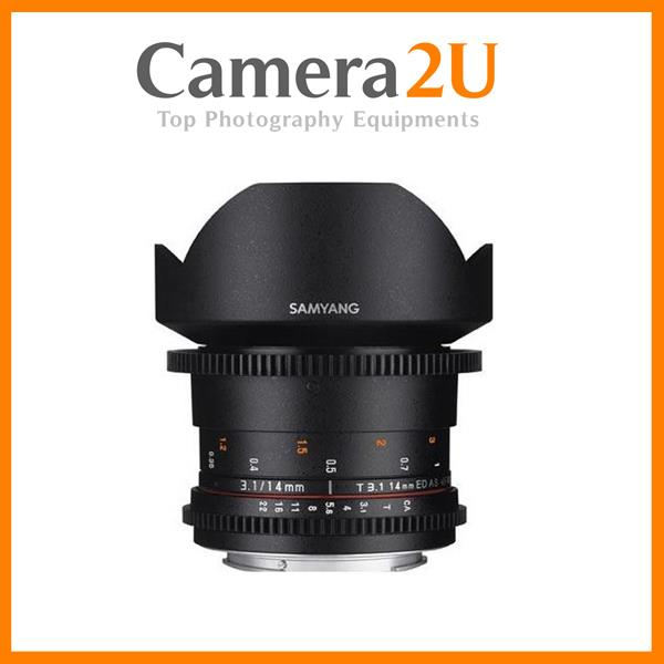 Samyang 14mm T3.1 ED AS IF UMC II VDSLR Cine Lens