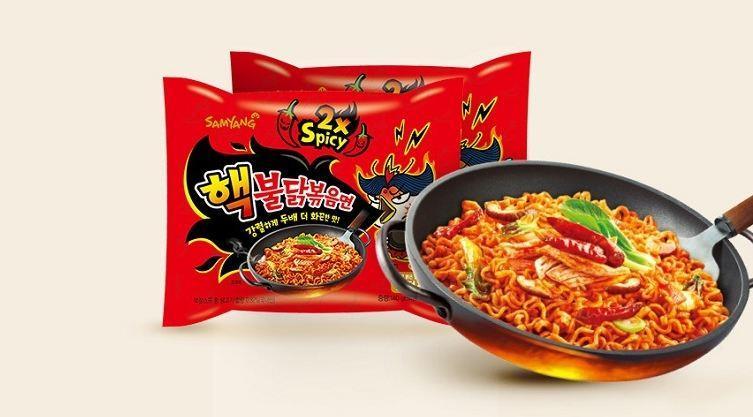Samyang 2x Spicy Haek Buldak Bokkeummyeon (2x Spicy Hot Chicken Ramen)