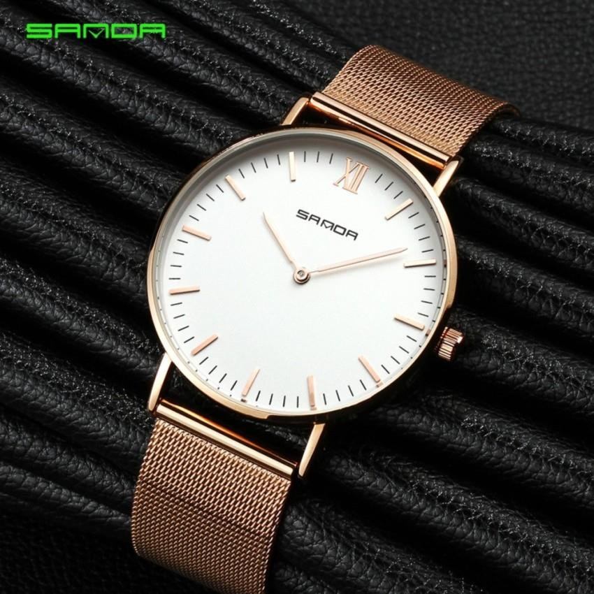 SANDA 208 Luxury Ultra Thin Stainless Steel Quartz Men Watch - RGWH