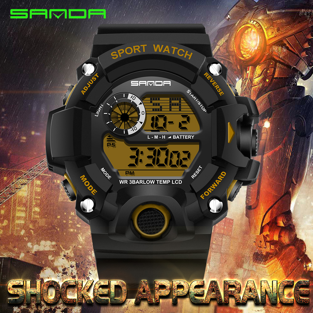 SANDA 326 Waterproof Outdoor Multifunctional Sports Men's Watch