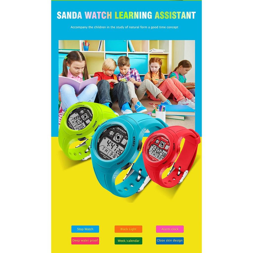 SANDA 331 Primary School Students Kids Waterproof Children Sport Watch 7eb825de86ebb