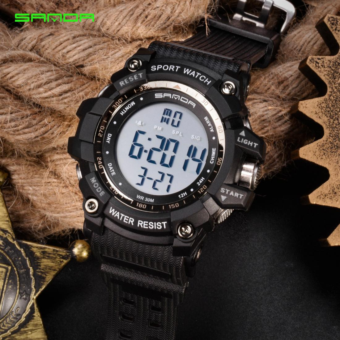 Sanda men's and women's fashionable electronic watch movement LED