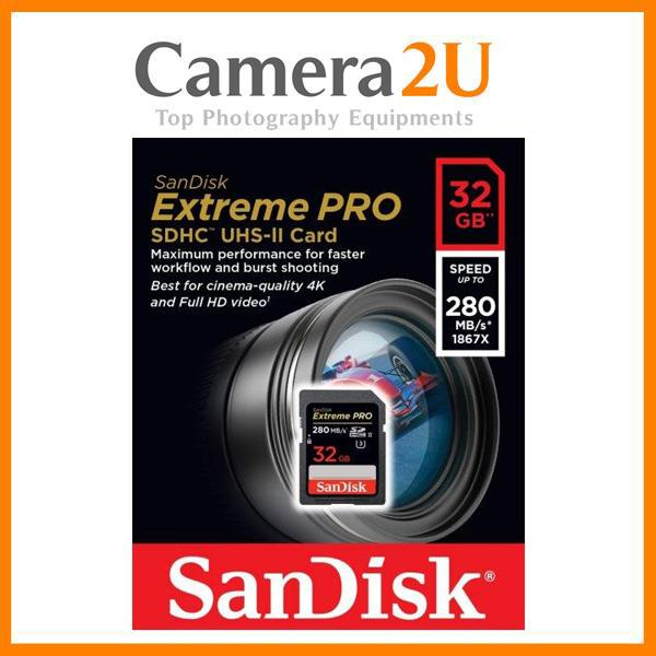 SanDisk 32GB 280MB/s Extreme PRO UHS-II SDHC Memory Card
