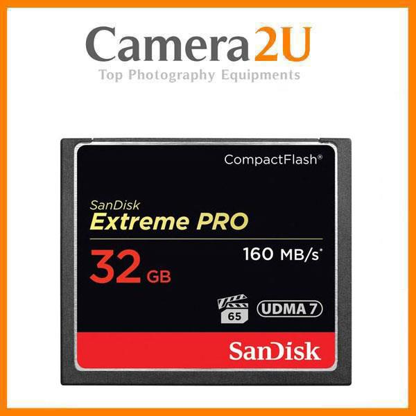 SanDisk 32GB Extreme Pro CompactFlash Memory Card (160MB/s)