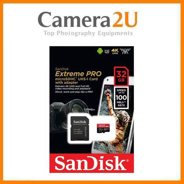 SanDisk 32GB Extreme Pro Micro SDHC Micro SD Class 10 100MB