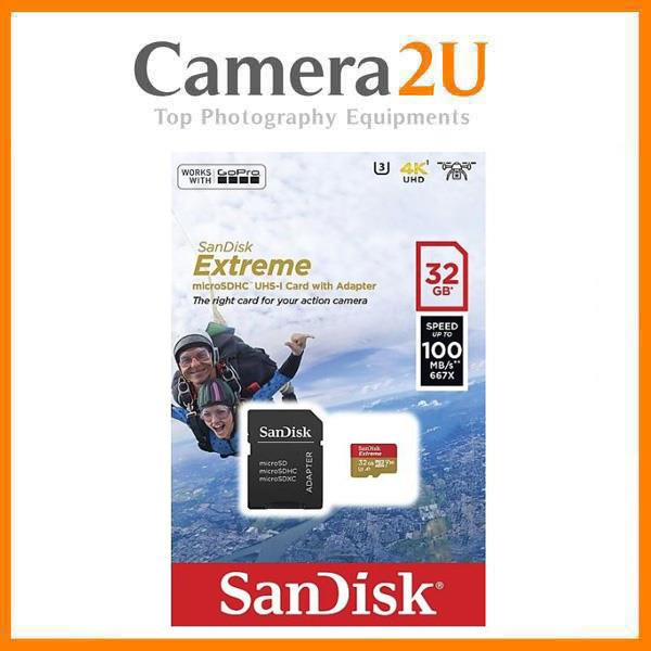 SanDisk 32GB Extreme UHS-I microSDHC Memory Card