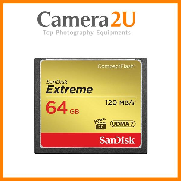 SanDisk Extreme Compact Flash 64GB CF 120MB /s 800X Memory Card