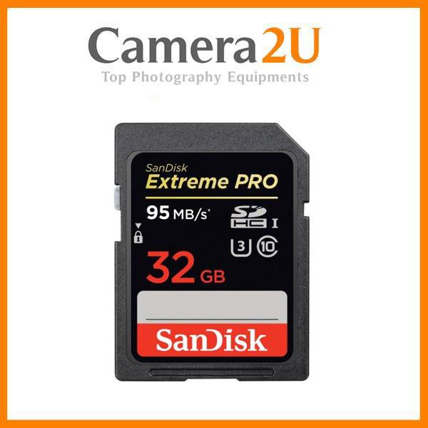 Sandisk Extreme Pro 32GB Full HD SD Card (95MB/s) SDHC Memory Card