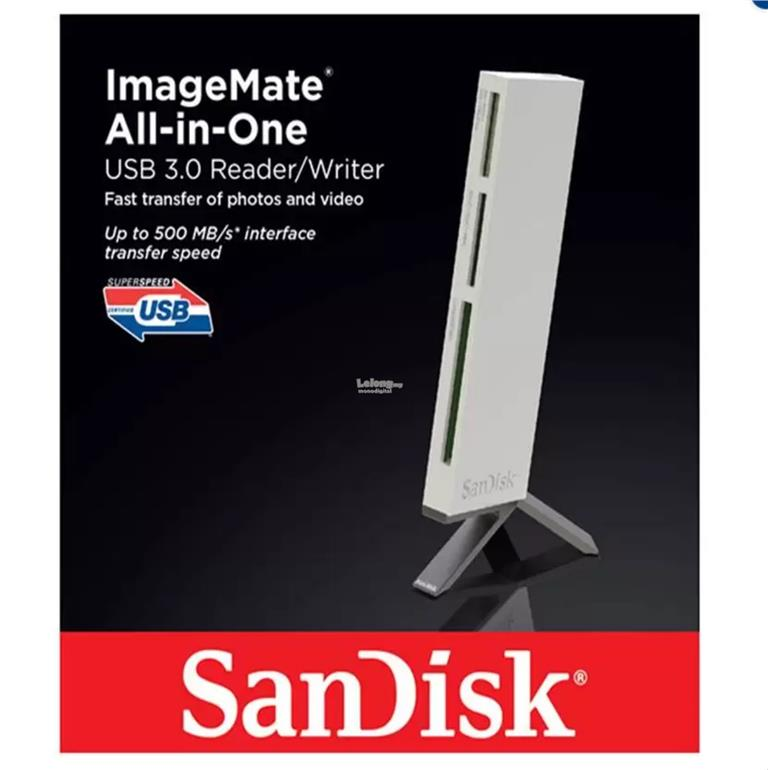 SANDISK ImageMate All In One USB 30 Card Reader Micro SD CF SDXC