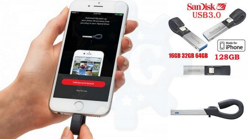 SANDISK iXPAND iPhone iPad Pendrive (end 1/24/2019 10:43 AM)