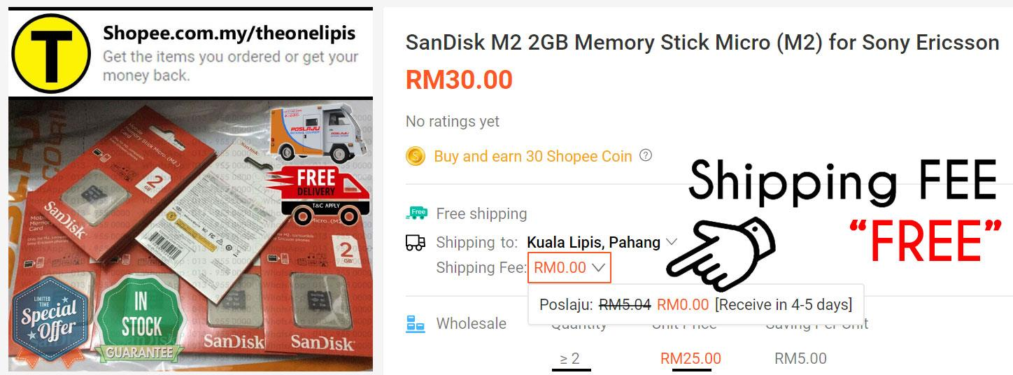 SanDisk M2 2GB Memory Stick Micro (M2) for Sony Ericsson (FEE POSTAGE)
