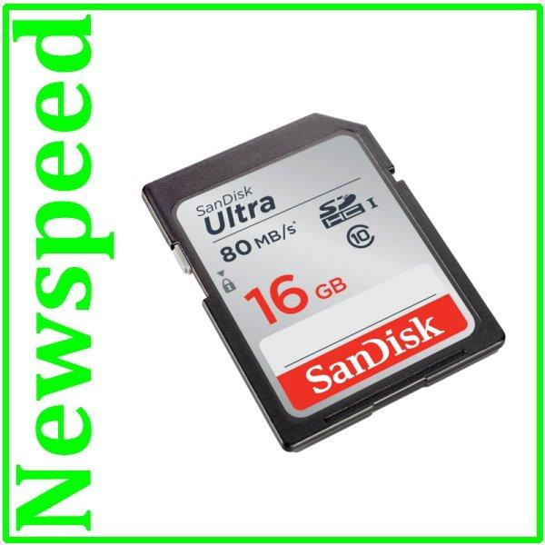 New SanDisk Ultra 16GB SD Card SDHC Memory Card 80MB/s