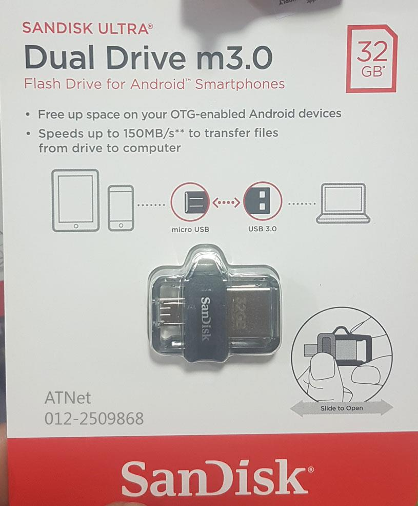 Sandisk 32gb Ultra Dual M3 My Own Email Drive Otg 32g M30 For Smartphone