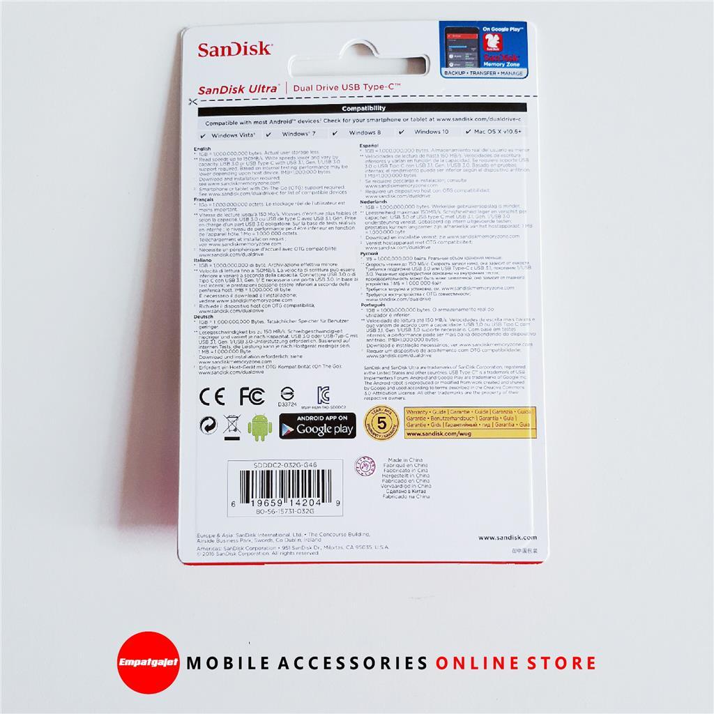 Sandisk Ultra Dual Drive Usb Type C O End 5 4 2019 336 Pm Otg 32gb