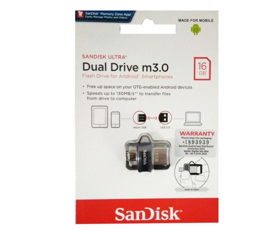 Sandisk Ultra Dual OTG 16GB 32GB 64GB 128GB USB 3 0 Micro Flash Drive