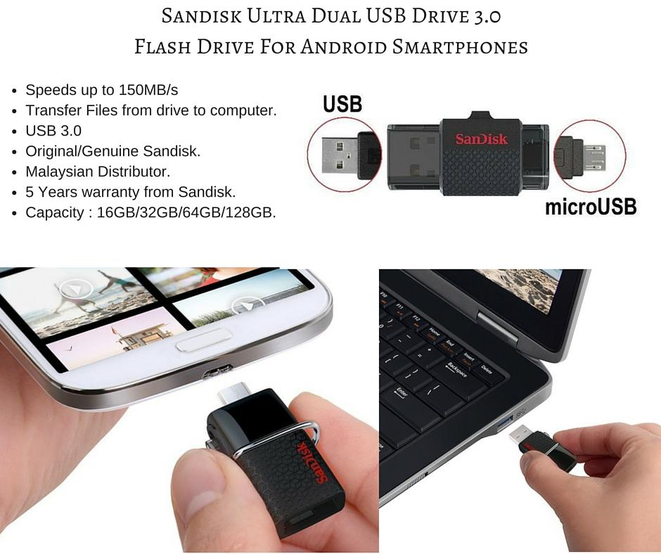 Sandisk Ultra Dual OTG USB 3.0/Cruze (end 6/11/2019 3:15 PM)