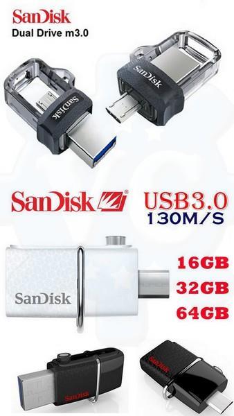 40c8a147b4f SANDISK Ultra Dual USB M3.0 Micro Pendrive OTG 16GB 32GB 64GB 128GB. ‹ ›