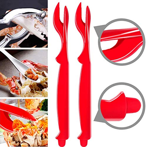 SANOSY Seafood Tools Set Including 2 Forks and 1 Lobster Crab Crackers Nut Cra