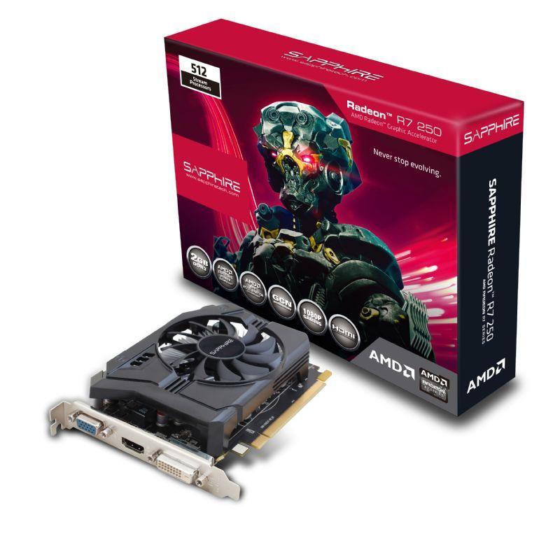 SAPPHIRE AMD RADEON R7 250 2GB DDR3