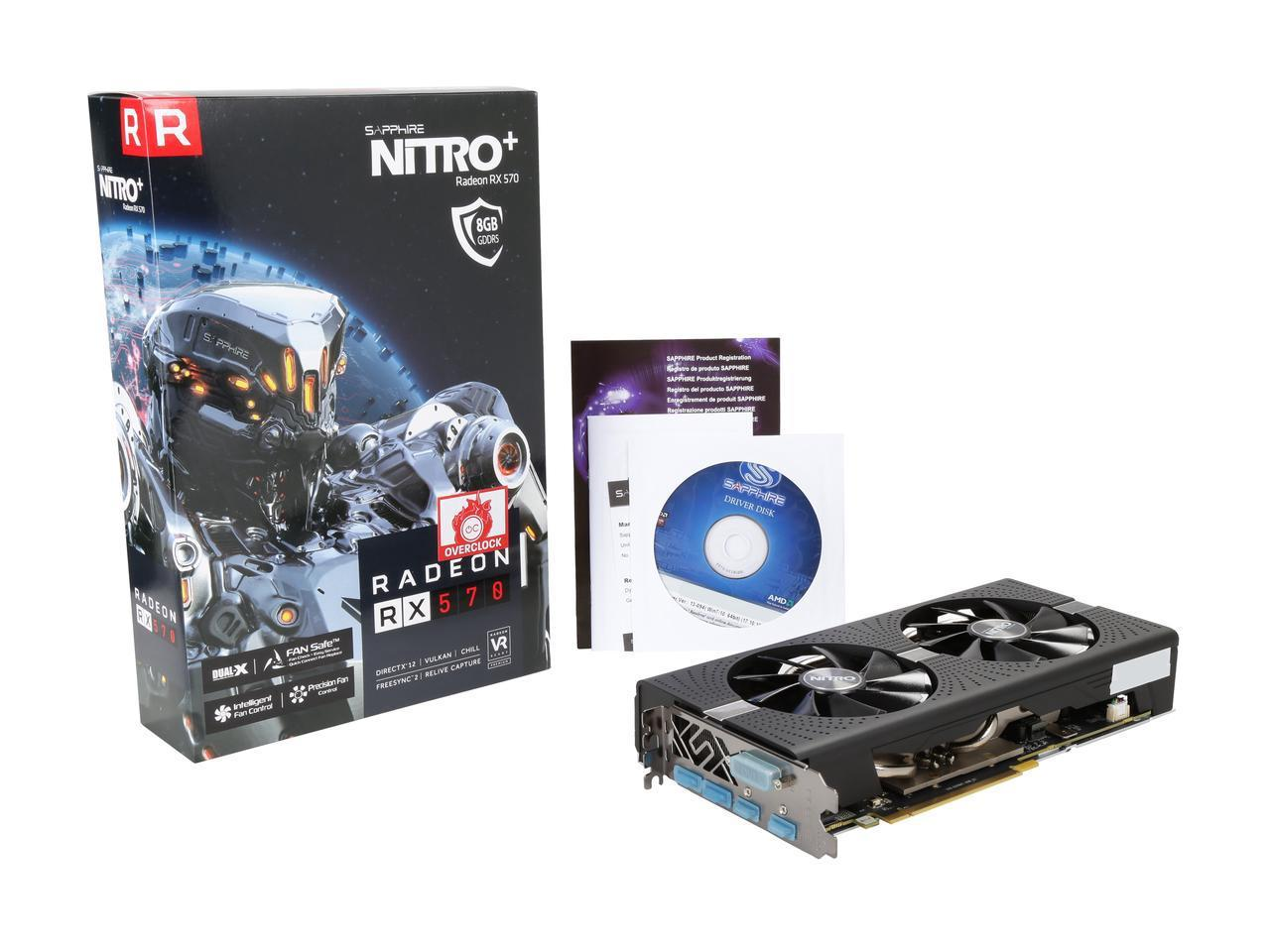 Sapphire RX 570 Overclock OC Excellent Condition Computer Components