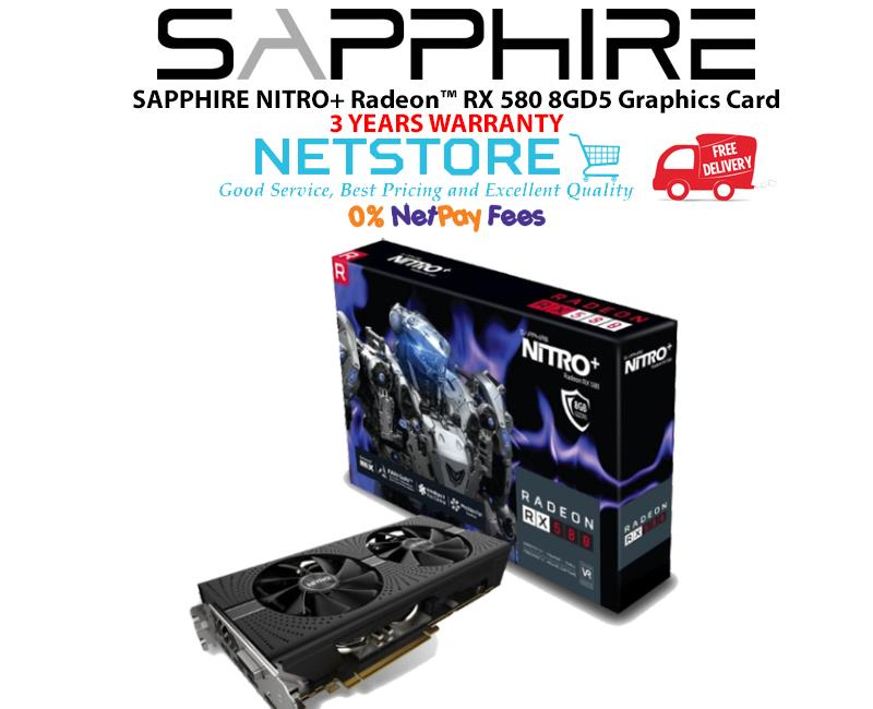 SAPPHIRE NITRO+ Radeon™ RX 580 8GD5 Graphics Card - (RX580)- preorder