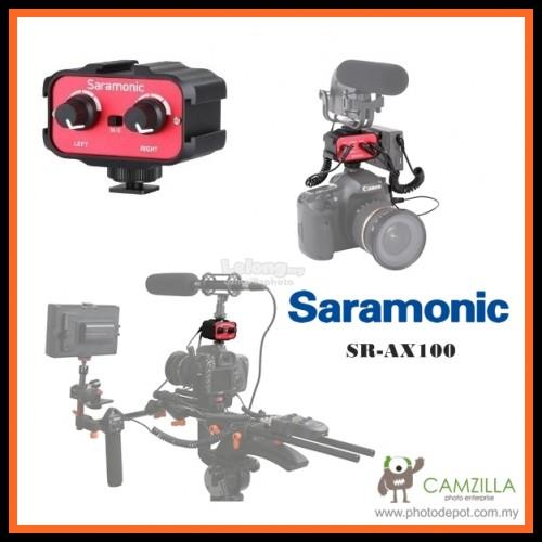 Saramonic SR-AX100 2 Channel 3.5mm Audio Adapter (Red/Black)
