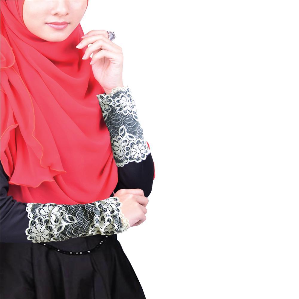 Sarong tangan muslimah lace dress