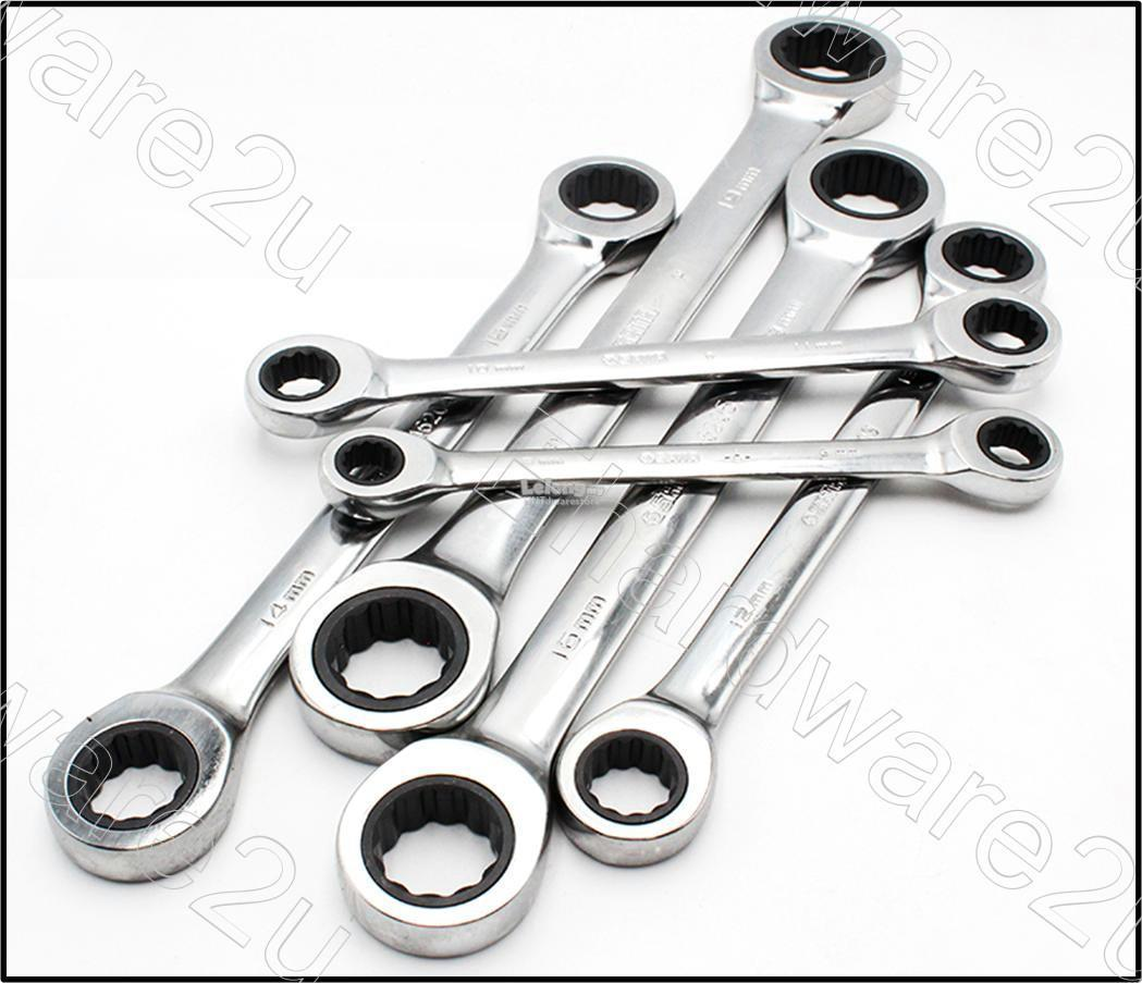 Sata 09025 6PCS DOUBLE BOX RATCHETING WRENCH SET (METRIC)