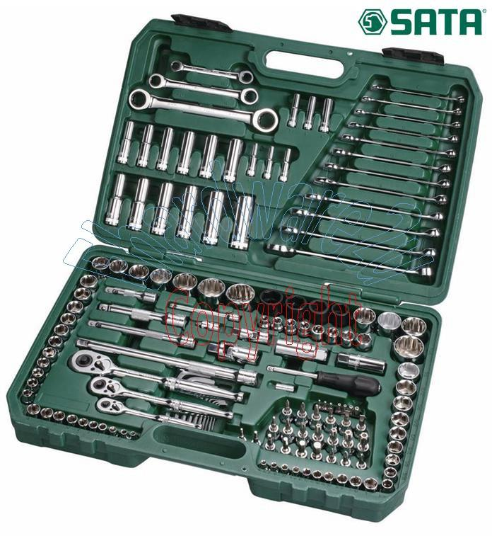 SATA 150pcs 1/4+3/8+1/2DR Socket & Wrench Set (09510)