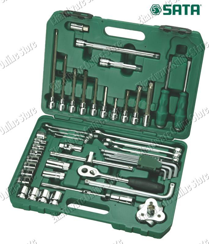 SATA 58PCS AUTO REPAIR TOOLS SET (09508)