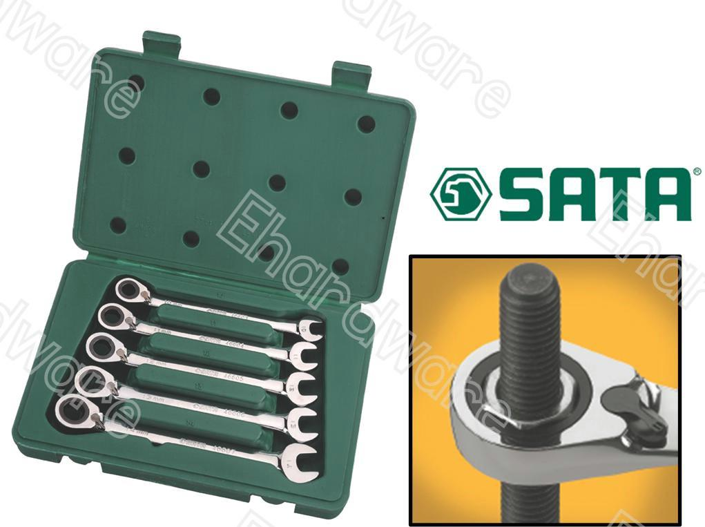 SATA 5PCS RATCHET REVERSIBLE WRENCH SET (09083)
