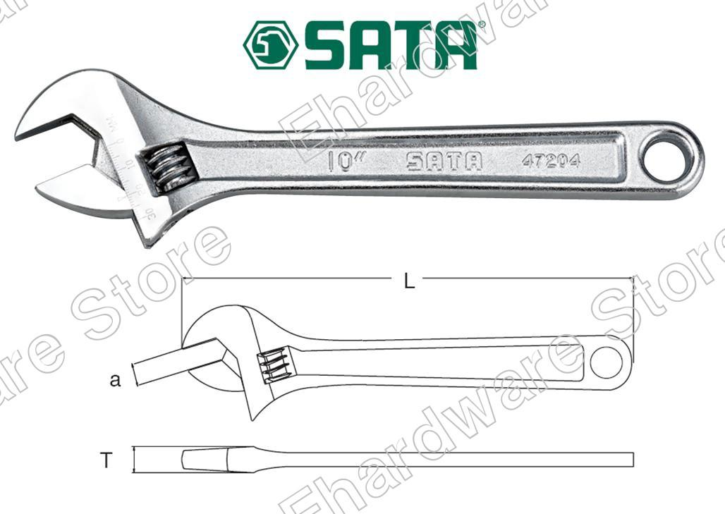 SATA Adjustable Wrench (47201OS) (Open Stock)