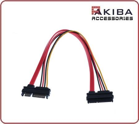 SATA Cable 22p F to 22p M 15+7p