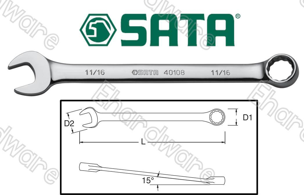 SATA Combination Wrench Metric & SAE (CWSATA)