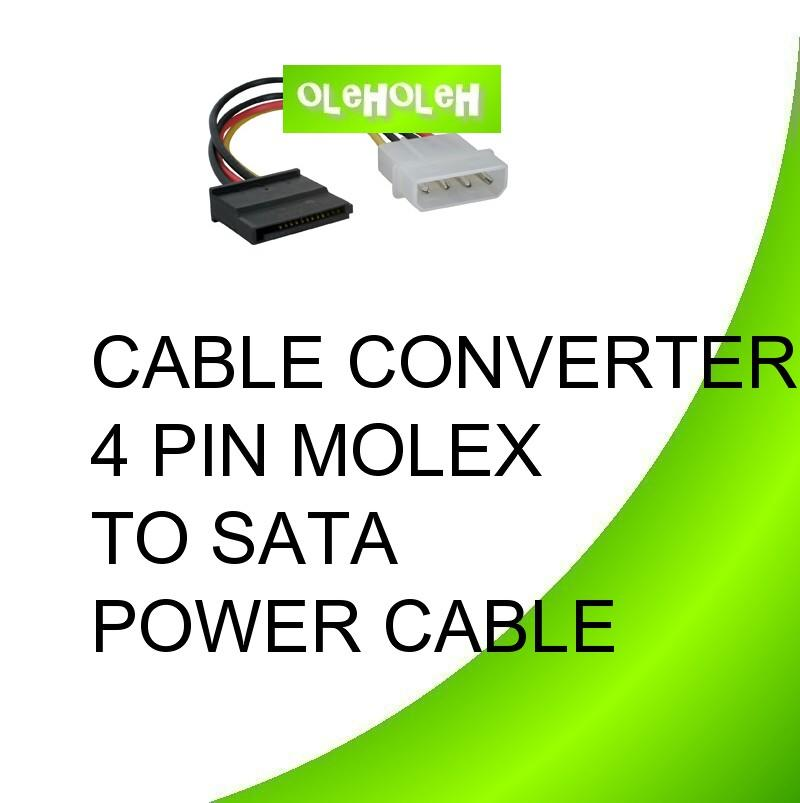 SATA Power Cable 4 Pin Molex To SATA Power Y Splitter Cable 1 To 2